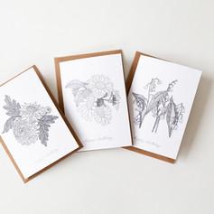 Birth Flower Cards