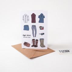Agri-Girl Card