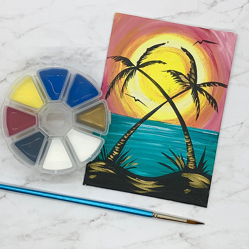 Sunrise Palms Painting Kit