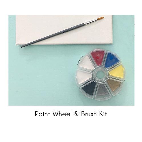 Paint Wheel & Brush Kit