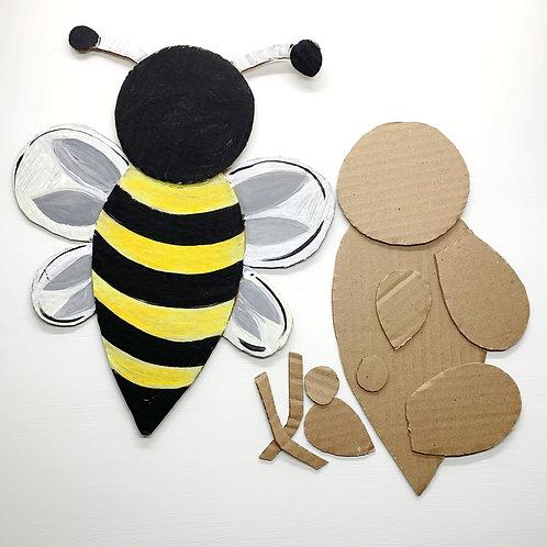 Cardboard Bumble Bee