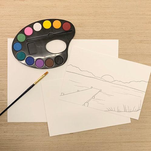 Watercolor Painting Kit