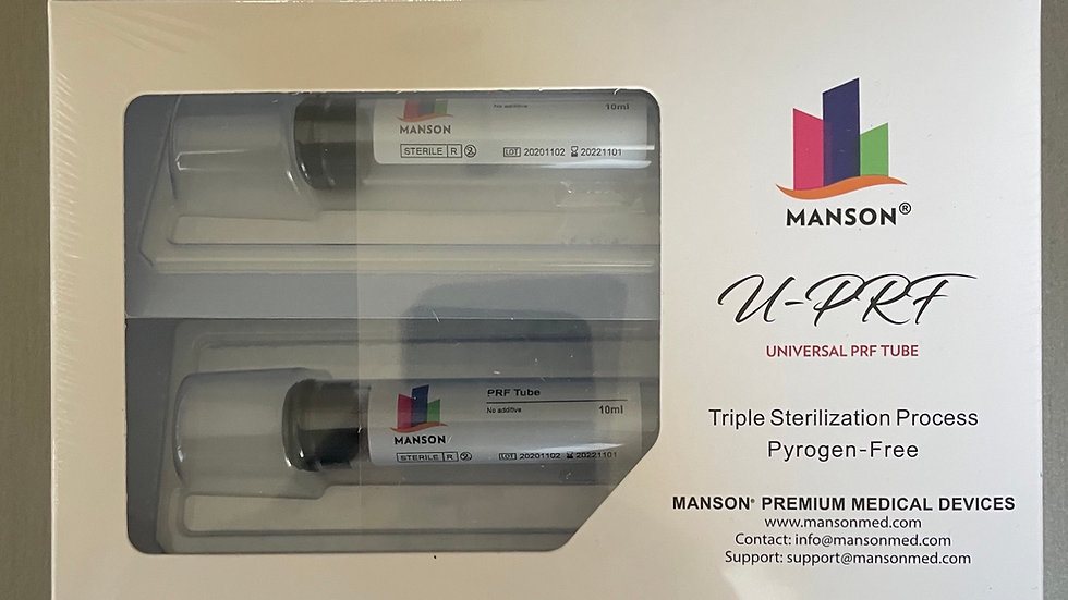 4 PC  PREMIUM GLASS TRIPLE STERILIZED PRF TUBES