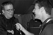 Andrew Marston interviewing The Proclaimers at the Big Chill Festival