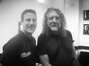 Andrew Marston with Led Zeppelin frontman Robert Plant