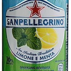 San Pellegrino lemon & mint