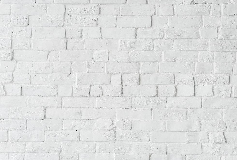 Mur en briques blanches du studio vdanse