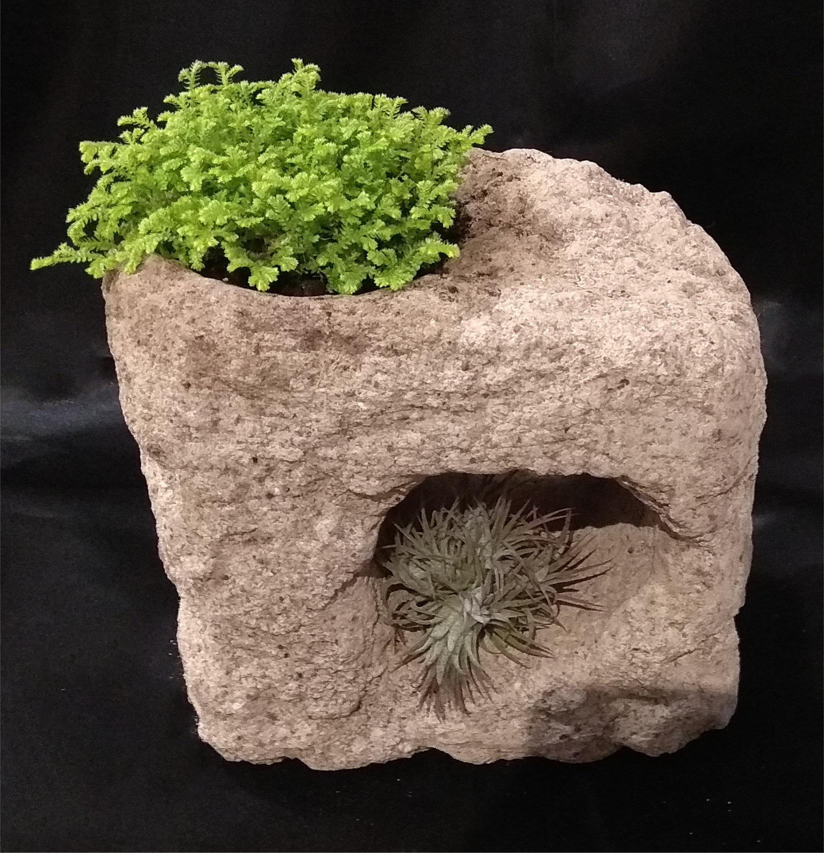 maceta piedra artesanal