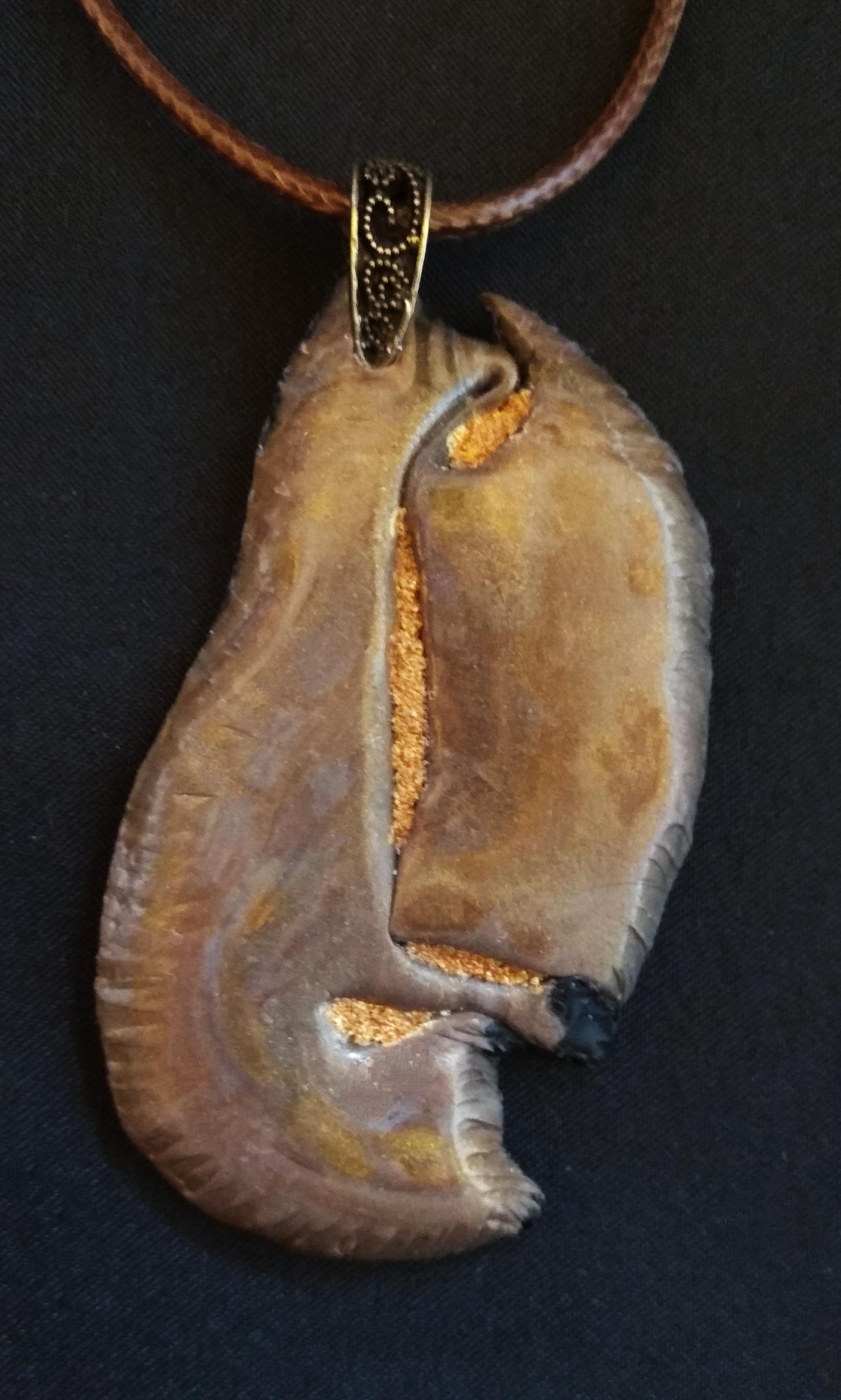 collar arcilla polimérica - colgante