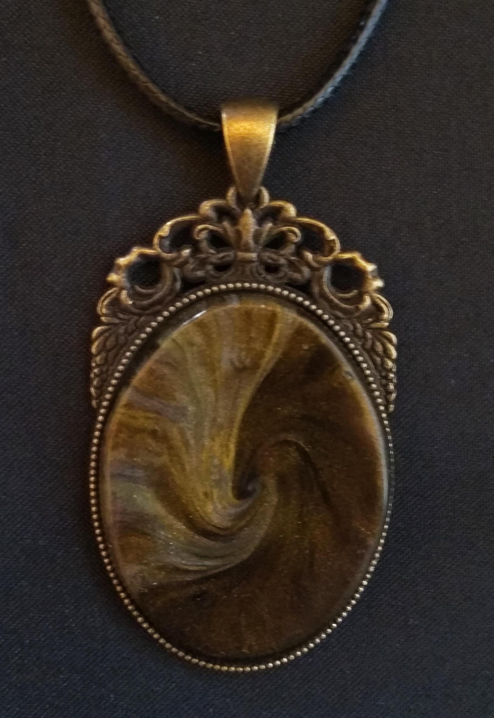 collar vintage y arcilla polimérica - collier vintage et résine polimère