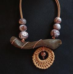 collar artesanal arcilla polimérica