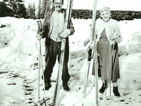 Skidtur på Sonfjället 1966