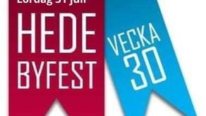 Hede byfest-vecka: lördagens programpunkter