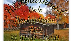 Det blir Höstmarknad i Hede 25 september