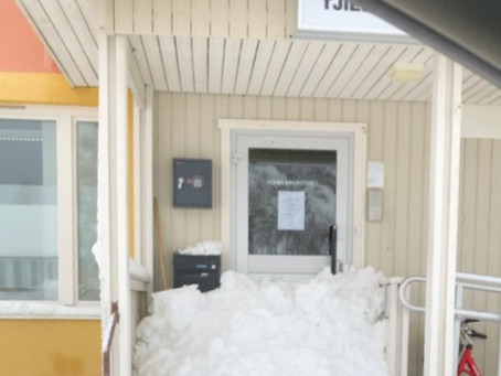 Snöskottning - roar många