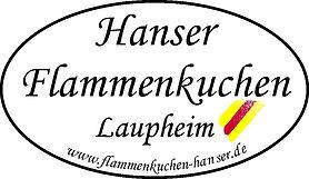 Flammenkuchen-Hanser-Werbeschild mit www