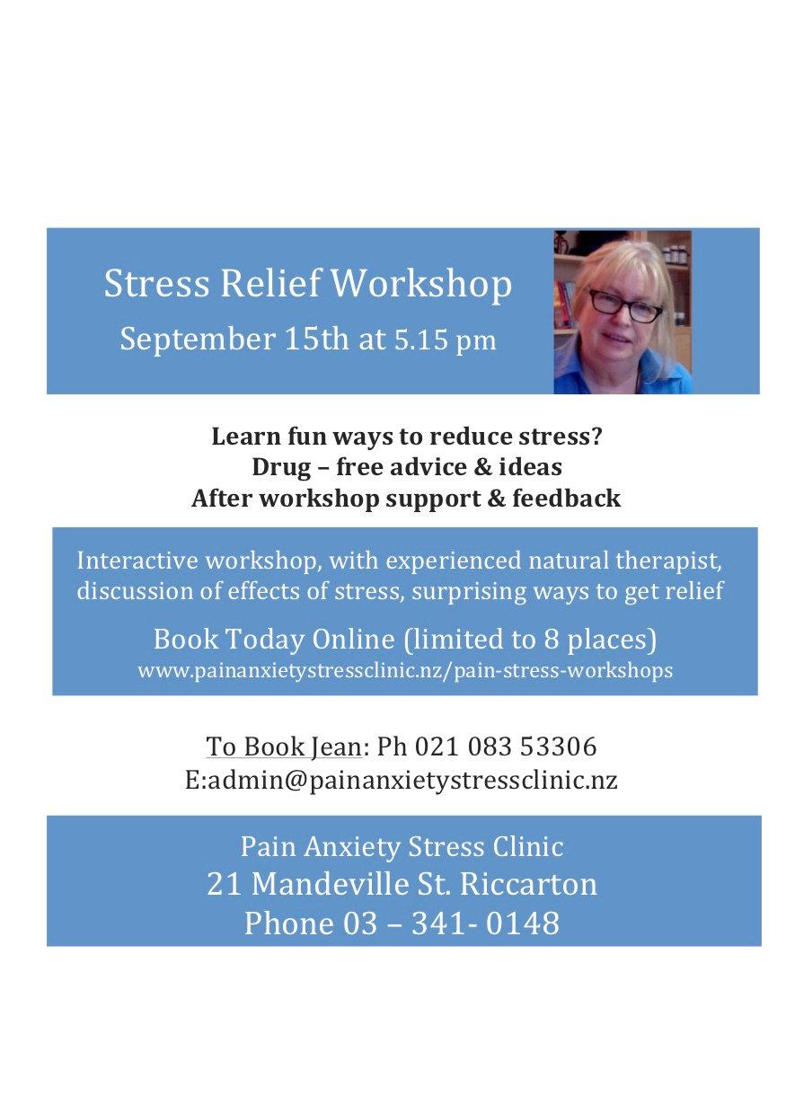 Stress Banishment Workshop-September 15