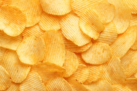 background corrugated golden chips with