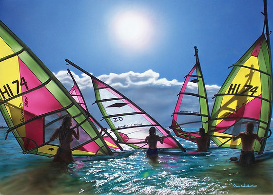 Windsurfers Picture my paintings 5  005