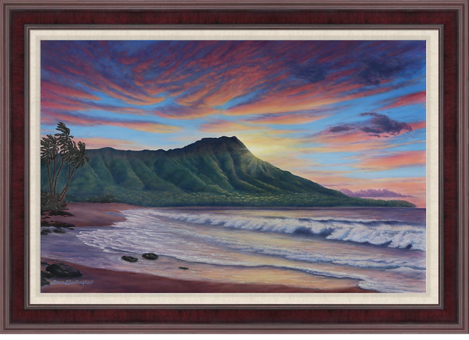 Diamond Head Tranquility - Giclee Print
