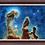 "Thumbnail: Pillars of Creation: Eagle Nebula - 40"" x 30"" Original Acrylic Painting"