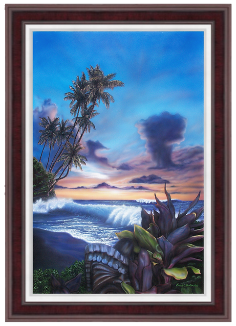 Lahaina Tiki Sunset - Giclee Print