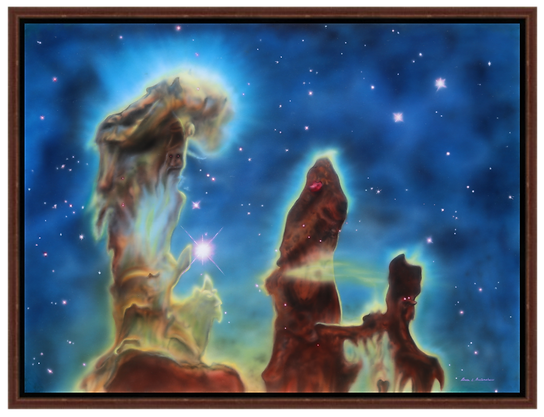 Pillars of Creation: Eagle Nebula - Giclee Print