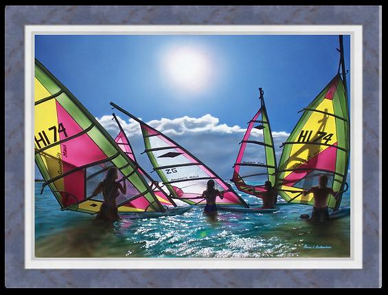 """Ho'okipa Serenity - 28"""" x 20"""" Original Acrylic Painting"""