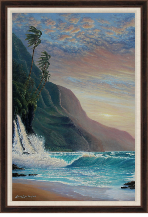 "Napali Daybreak - 24"" x 36"" Original Oil Painting"