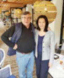 Helix advisory board member, Professor Emilio Hernandez with Helen Lee