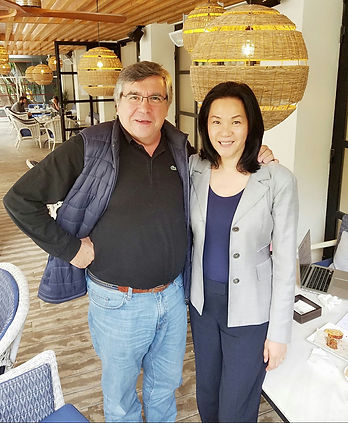 Helix advisory board member, Professor Emilio Hernandez with Helen Lee