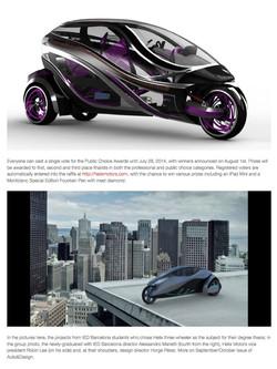 Auto Design website cover story