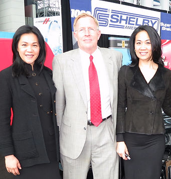Heleix Lee and Robin Lee with Helix advisory board member, Joh Luft