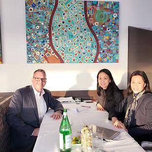 John Thomas with Robin Lee and Helen Lee of Helix Motors Inc.