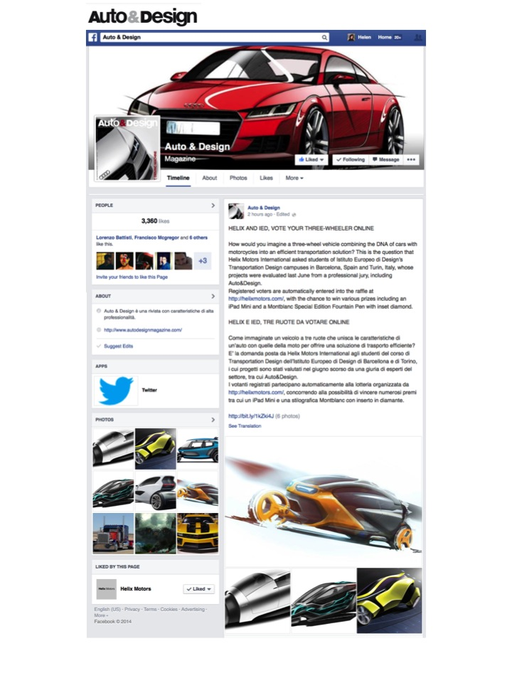Auto&Design Facebook
