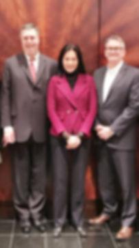 Richard Morris, Helen Lee and John Thomas
