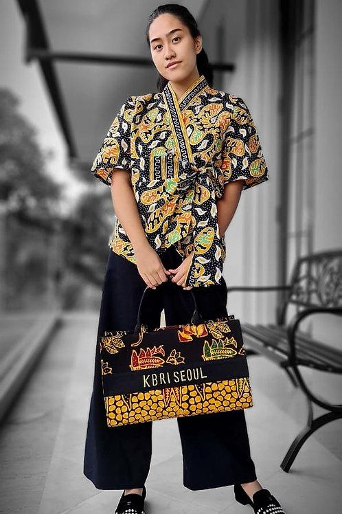 Batik Short Kimono Blouse