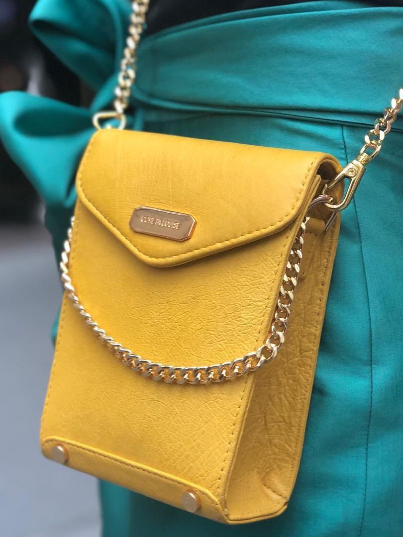 Yellow mini bag-Coreta louis-NYFW SS19 C