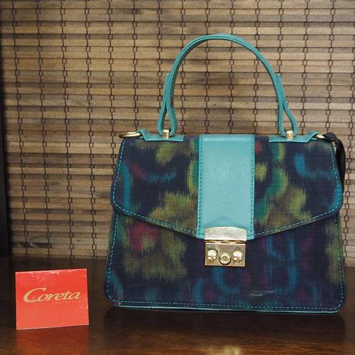 Blue Top Handle Bag