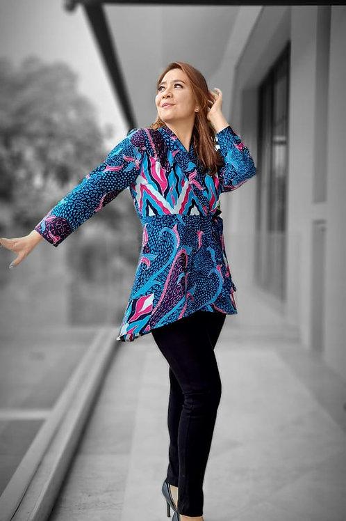 Batik Long Kimono Blouse