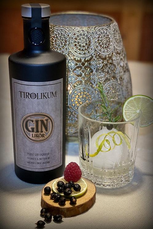 TIROLIKUM Gin LIKÖR (XL Flasche 0,70 Liter) 39 % vol.