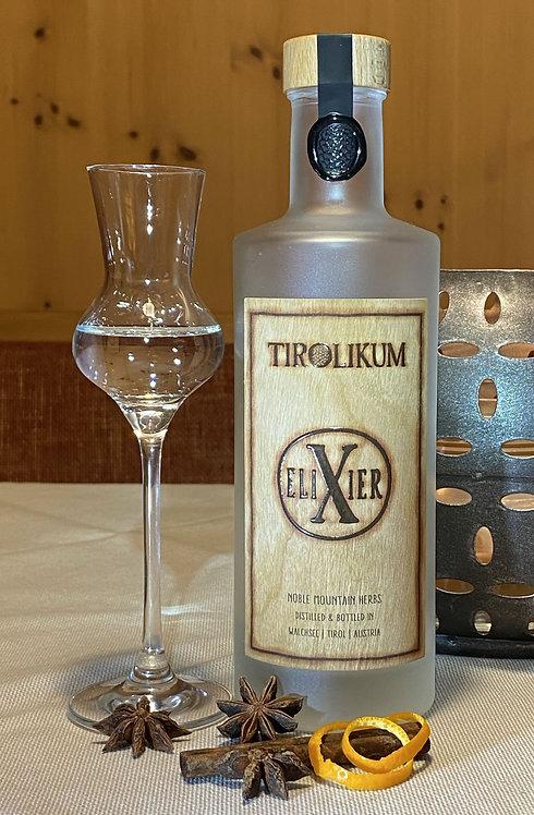 TIROLIKUM Elixier Edelkräuter Destillat (Flasche 0,35 Liter) 41 % vol.