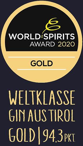 Weltkalsse Gin aus Tirol, World spirits