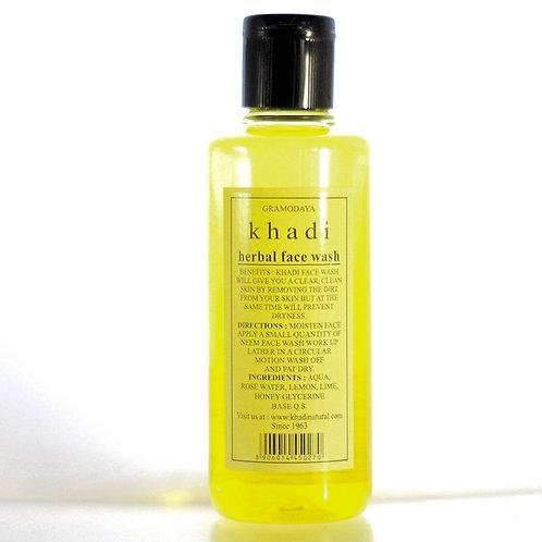 Gel Nettoyant Herbal Face Wash  Khadi
