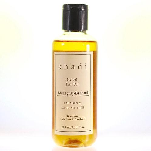 Huile Cheveux Bhringraj Brahmi Khadi