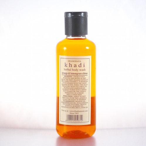 Gel Douche Orange Citronnelle Khadi