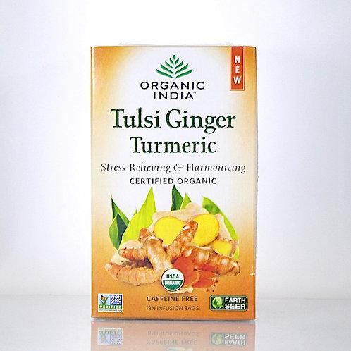 Infusion Tulsi Gingembre Curcuma Organic India