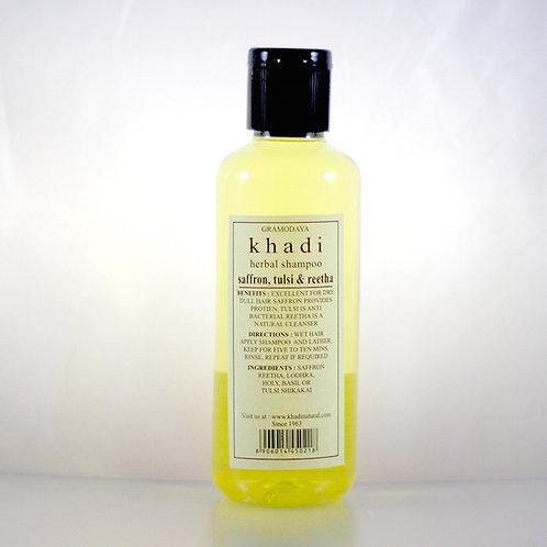 Shampooing Safran Tulsi Reetha Khadi