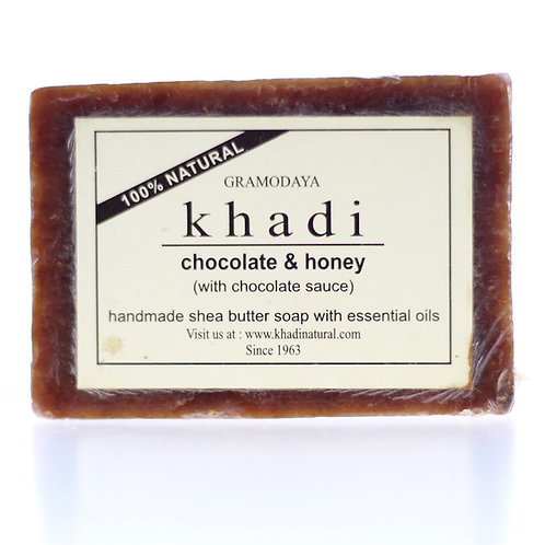 Savon au Beurre de Karité Chocolat et Miel, sauce chocolat Khadi