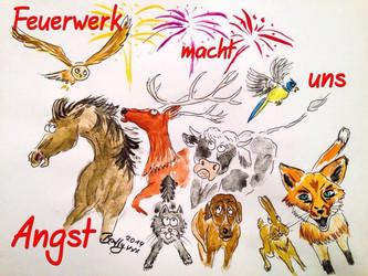 Silvester: Lebensbedrohend für Tiere